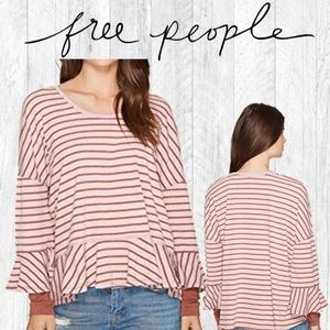 Free People We The Free Round About Top Bell Pink
